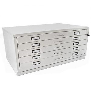 A1 Milano 5 Drawer Plan Chest WHITE