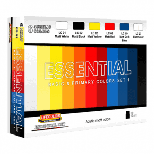 LifeColor Essential Basic & Primary Colours Set 1