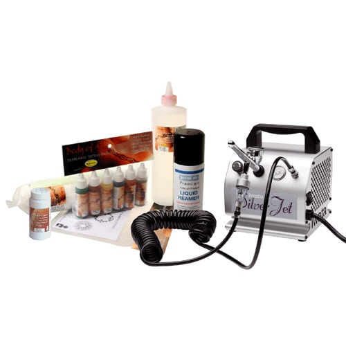 Iwata Professional Mobile Body Art Kit with Silver Jet Compressor