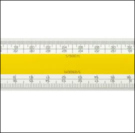 No 203 Verulam Imperial Ordnance Scale Rule 12inch