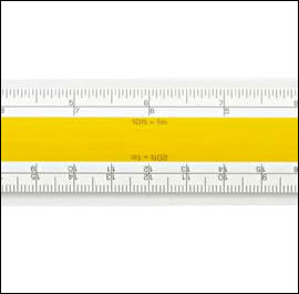 No 809  Verulam Imperial Architects Scale Rule - 12 inch