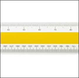 No 43 Verulam Ordnance Scale Rule - 12 inch - 300mm approx.