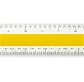 No 44 Verulam A  RIBA Architetcs Scale Rule 12 inch - 300mm approx