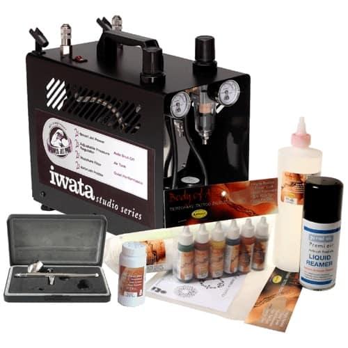 Iwata Professional Body Art Kit with Power Jet Pro Compressor