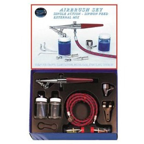 Paasche H Airbrush Set - All Heads, hose and Bottles
