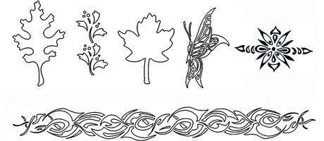 Medea Body Art Stencil - Au Natural