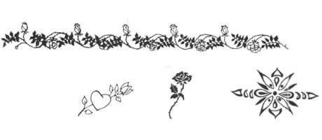 Medea Body Art Stencil - Flowers