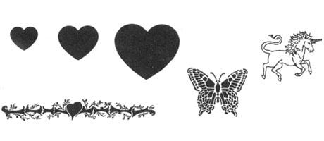 Medea Body Art Stencil Feminine