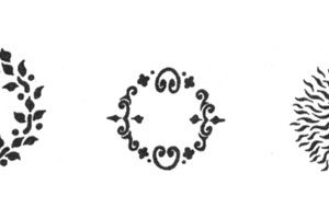 Medea Body Art Stencil - Midriff Madness