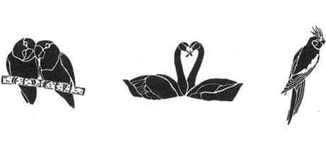 Medea Body Art Stencil - Birds