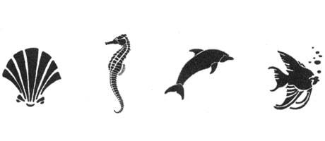 Medea Body Art Stencil - Sea Life