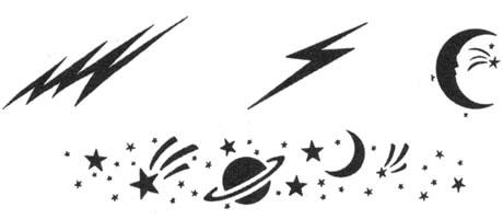 Medea Body Art Stencil Cosmic