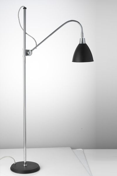 Retro Floor Lamp Silver and Black